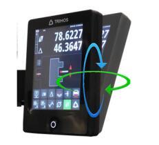 清晰直观的触摸屏可旋转显示面板