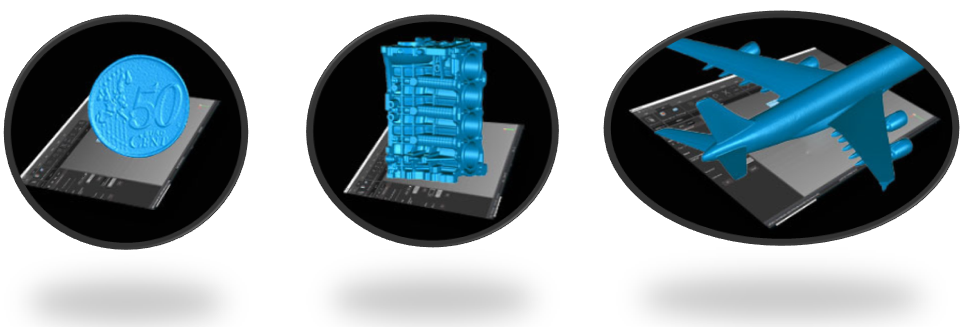 PRINCE335手持式三维扫描仪从硬币到飞机一机轻松扫描