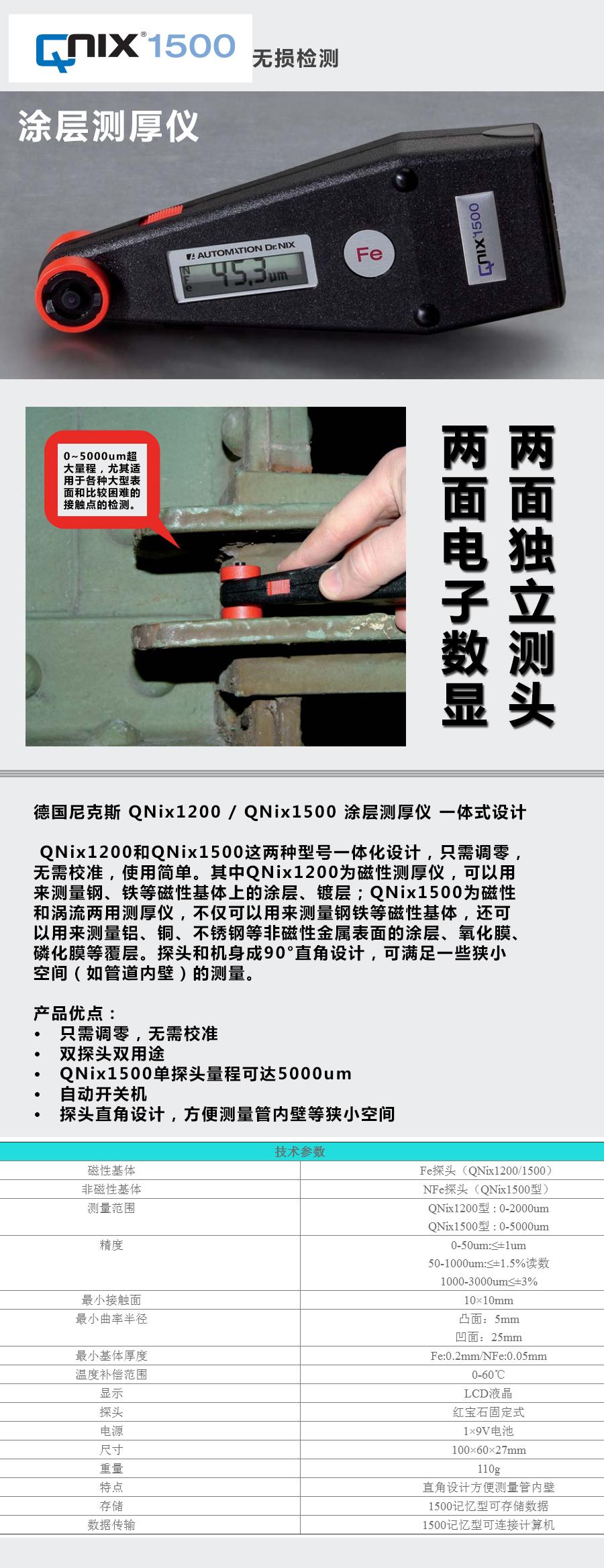 QNIX1200車漆膜厚測量儀使用說明