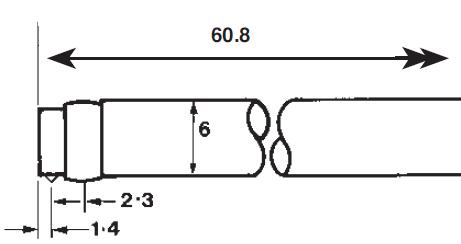 112-1502粗糙度仪标准测针尺寸