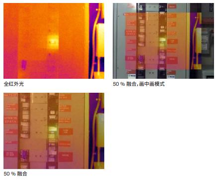 采用 IR-Fusion™ 红外和可见光融合技术的图像