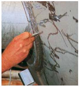 测量焊缝处的铁素体含量1