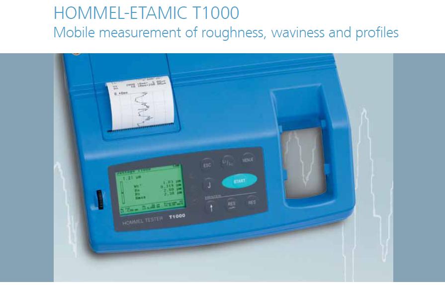 德国霍梅尔粗糙度仪HOMMEL TESTER T1000
