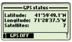 显示当前的读数以及GPS坐标