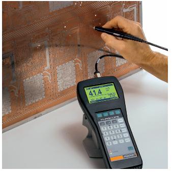 使用ESL080B探针测量通孔中的铜厚度