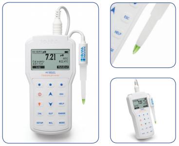 哈纳HI98161防水便携式酸度pH-温度测定仪