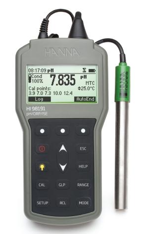 哈纳HI98191便携式pH / ORP / ISE/温度测定仪