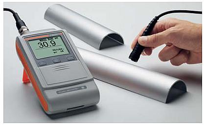 FMP20配合曲率补偿探头FTD3.3测量阳极氧化样品