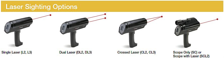 可选激光瞄准模式